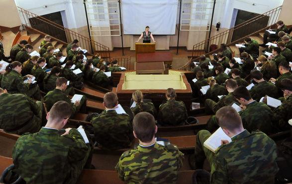 Лекция в военном училище