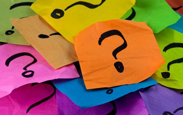 Цветные стикеры с вопросами